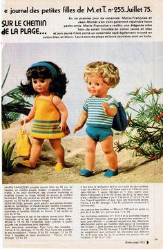 """""""Sur le chemin de la plage"""" Fiche N° 255 de juillet 1975 - http://augredutemps.canalblog.com/archives/2012/12/20/25970064.html"""