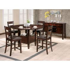 Gibson Drop-Leaf Table Top in Espresso