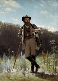 Ivan Kramskoy  Portrait of the painter Ivan Shishkin, 1873