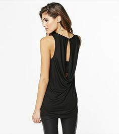 Try this subtly sexy draped back tank!