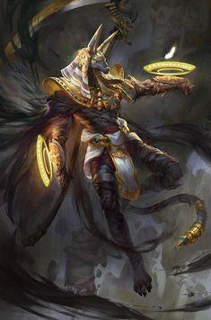Anubis - protector of the dead Egyptian Egyptian Mythology, Egyptian Art, Egyptian Anubis, Egyptian Goddess, Arte Pink Floyd, Egypt Concept Art, Bastet, Art Japonais, Gods And Goddesses