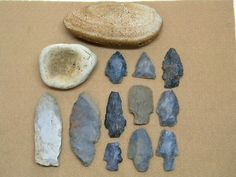Arrowheads Rock Tools Native American Indian Tool Spear Artifacts