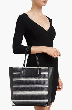 Alexander Wang 'Prisma - Painted' Genuine Snakeskin & Leather Tote | Nordstrom