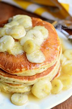 Bananas Foster Pancakes - Holy crap, these were good! To be honest, I didn't have very high hopes. The topping is just like having bananas foster on top of your fluffy banana pancakes. These are my new favorite!