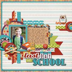 scrapbook layouts school   Last Day of School - Scrapbook.com