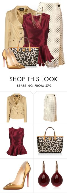 """""""Leopard and Red"""" by quirkyoak ❤ liked on Polyvore featuring Vivienne Westwood Anglomania, Geoffrey Beene, Tory Burch, Christian Louboutin, Pomellato and Michael Kors"""