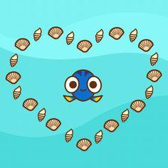 New trending GIF tagged love cute heart adorable finding. Disney Fan Art, Disney Love, Nemo Y Dory, Love You Gif, Disney Pixar Movies, Twisted Disney, Cinema, Finding Dory, Cute Gif