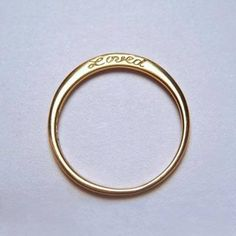 simple wedding band;Loved