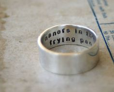 Silver Secret Message Ring (S0250)
