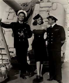 glenn ford | Glenn Ford, Marguerite Chapman and Edward G. Robinson in Destroyer ...