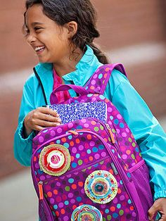 Back-to-School Backpack Pins: A cute craft for decorating a child's backpack or school bag.