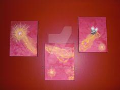 New 3 Panel Acrylic Flying Saucer Painting by sicklilmonky.deviantart.com on @DeviantArt