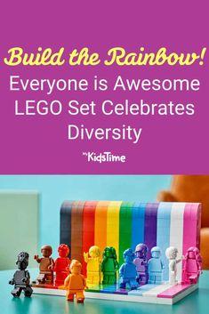 Everyone is Awesome LEGO Set Celebrates Diversity – Mykidstime Awesome Lego, Cool Lego, Parenting Teenagers, Parenting Advice, Rainbow Flag, Rainbow Colors, Free Lego, Lego For Kids, Lego Instructions