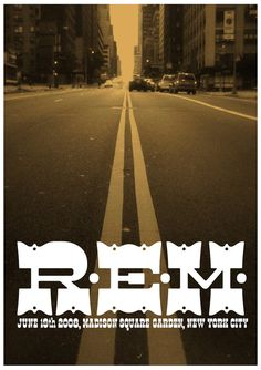 R.E.M. NYC Concert Poster