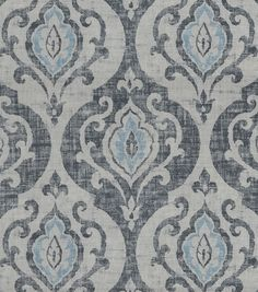 Rhea is a globally inspired printed ogee design, inspired by a vintage kilim rug. The coarse weave structure adds a rustic look and intensifies the distressed effect. Content: 75% Cotton, 25% Linen Wi