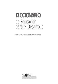 DICCIONARIO DE EDUCACION PARA EL DESARROLLO