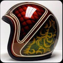 Retro Motorcycle Helmets, Retro Helmet, Cafe Racer Helmet, Tactical Helmet, Bell Helmet, Helmet Paint, Custom Helmets, Speed Bike, Cycling Helmet