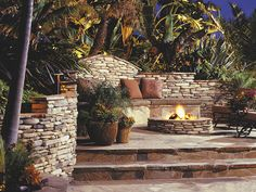 Love this outdoor patio... would love to have those palm trees but not where I live...would have to move