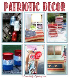 Patriotic Decor for the 4th of July, Memorial Day