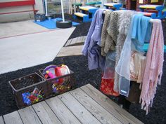 Take dramatic play outdoors with props