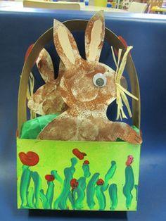 Un panier lapin (Étapes de la fabrication)