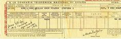 Rota Spain telephone bill - circa 1968. Rota Spain, Telephone, 1960s, Phone, Sixties Fashion