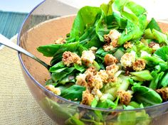 Inspired by sunomono a Japanese salad often made with cukes and daikon radish. Posted for Cooking Light/June issue. Cooking time is time chilling! Salade De Bok Choy, Bok Choy Salad, Large Salad Bowl, Salad Bowls, Salad Bar, Broccoli Salad, Cucumber Salad, Pesto Salad, Cauliflower Salad