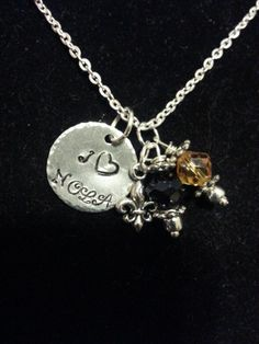 """I """"heart NOLA Necklace by Metallic Kreations www.etsy.com/shop/metallickreations"""