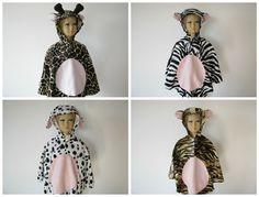 karneval fasching halloween kostüm cape fellimitat giraffe zebra hund tiger