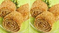 Ořechová roláda s medem z hrnečku připravená za 25 minut recept Sweet Desserts, Sweet Recipes, Delicious Desserts, Snack Recipes, Dessert Recipes, Cooking Recipes, Yummy Food, Snacks, Medieval Recipes