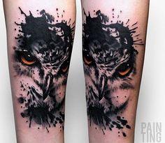 Szymon Gdowicz Pain Ting owl tattoo