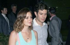 Cute Celebrity Couple Actor Adam Brody With Singer Leighton Meester Photo