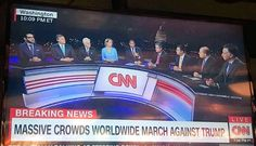 .@CNN is currently hosting a panel about the @womensmarch with ONLY ONE WOMAN! This is literally #whyIMarch. Do better, be more inclusive