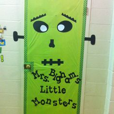October classroom door