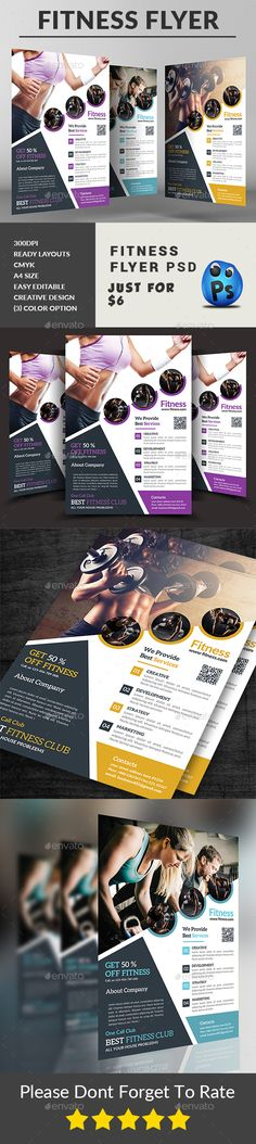 #Fitness #Flyer - Sports Events Download here: https://graphicriver.net/item/fitness-flyer/19358598?ref=alena994