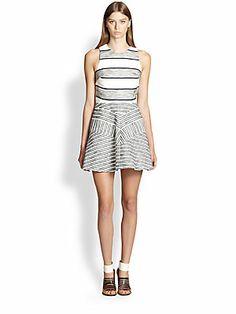 3.1 Phillip Lim Chevron Paneled Dress