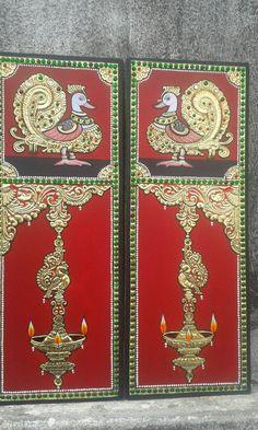TAnjore art...........Rama Peacock Painting, Dot Art Painting, Fabric Painting, Painting & Drawing, Saree Painting, Acrylic Paintings, Kerala Mural Painting, Indian Art Paintings, Madhubani Painting