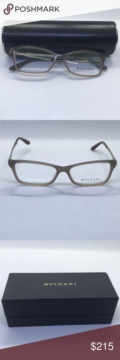 689553399a87 Bvlgari sunglasses rx demo lenses Authentic bvlgari women s eyeglasses  model silver and cream. case and box included Bulgari Accessories Glasses