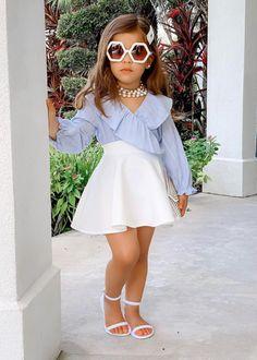 Cute Little Girls Outfits, Dresses Kids Girl, Kids Outfits Girls, Toddler Girl Outfits, Kids Fashion Dresses, Cute Baby Outfits, Clothes For Kids Girls, Toddler Girls Fashion, Trendy Toddler Girl Clothes