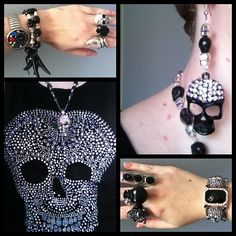 Black studded skulls top from Ice Designs