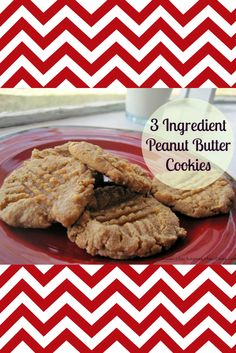 Three Ingredient Peanut Butter Cookies Recipe - Cha-Ching on a Shoestring™️