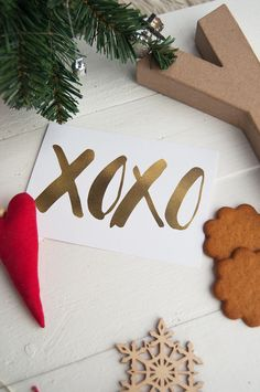 Christmas card/Joulukortti XOXO  www.papellia.fi