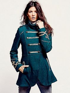 Free People Military Wool Coat at Free People Clothing Boutique. I want  this SOOOO badly. 71119c7f90f7