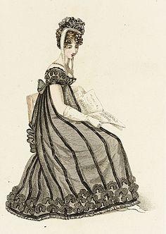 La Belle Assemblee, Evening Dress, February 1819. Oooooohhhh I love it!