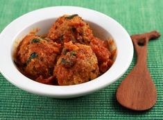 Curried turkey meatballs, from The Perfect Pantry.