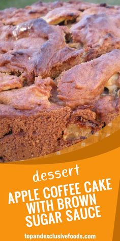 Apple Coffee Cake With Brown Sugar Sauce – Quick Family Recipes