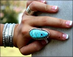 Hey, I found this really awesome Etsy listing at https://www.etsy.com/listing/183307793/large-turquoise-statement-ring-boho