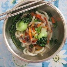 Chili Sauce Udon Noodles Soup