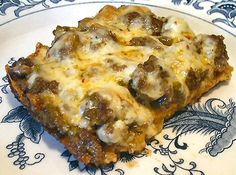 Green Enchilada Bake - Low Carb - omit the heavy cream and reduce 1 egg.