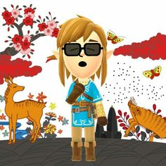 Miitomo picture with links new outfit from zelda breath of the wild